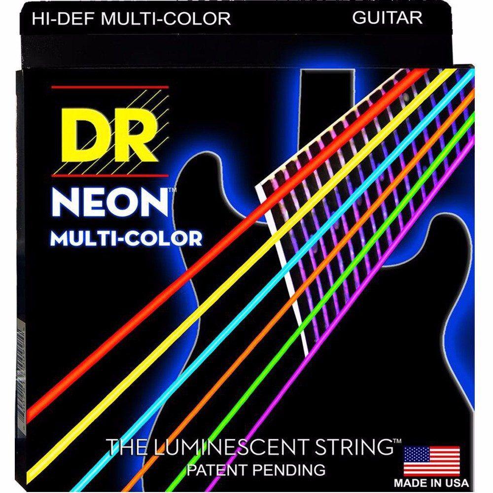 ENCORDOAMENTO P/ GUITARRA Hi-Def MULTI COLOR 0.10 NMCE-10 - DR STRINGS
