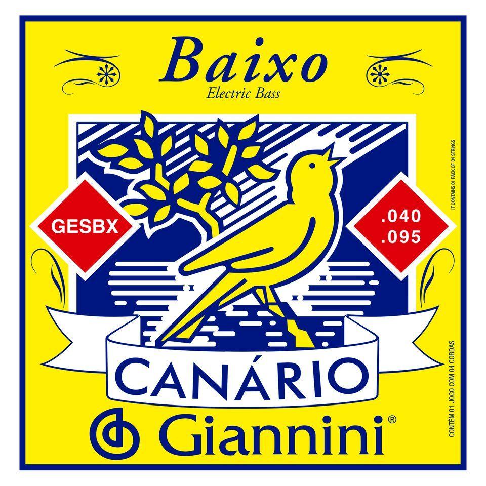 ENCORDOAMENTO PARA CONTRA BAIXO 4 CORDAS SERIE CANARIO - GESBX - GIANNINI