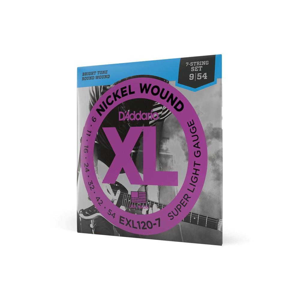 ENCORDOAMENTO PARA GUITARRA 7 CORDAS EXL120-7 009 - DADDARIO