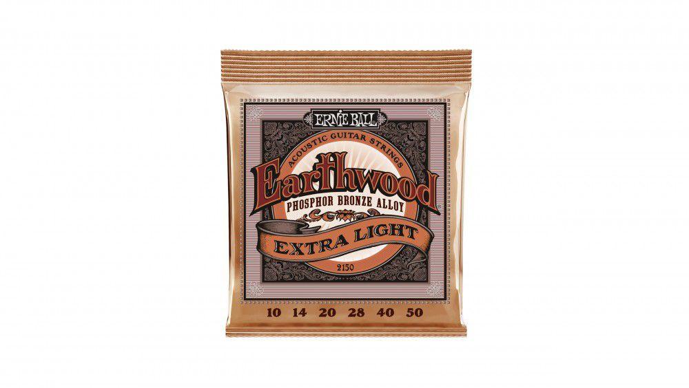 Encordoamento Violão Aço Ernie Ball Earthwood 2150 010-050 - Phosphor Bronze Extra Light