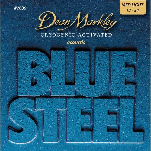 ENCORDOAMENTO VIOLAO BLUE STEEL, MEDIUM LIGHT, MEDIDA 12-54  2036 - DEAN MARKLEY