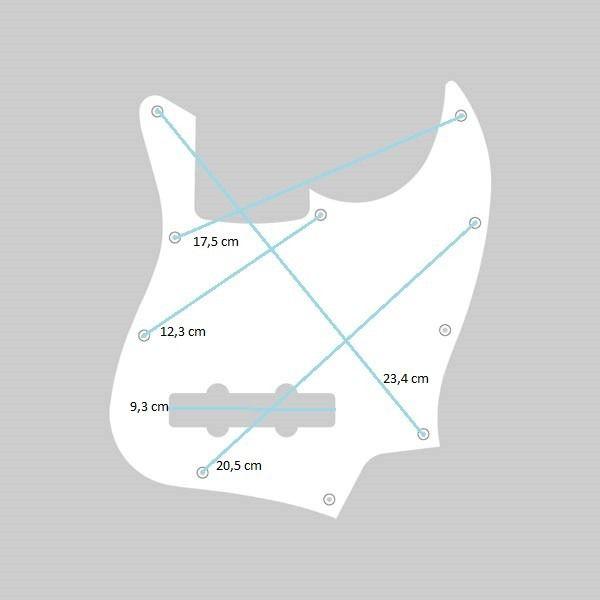 ESCUDO P/ BAIXO JAZZ BASS X642 SHELL TORTOISE 3P - SPIRIT