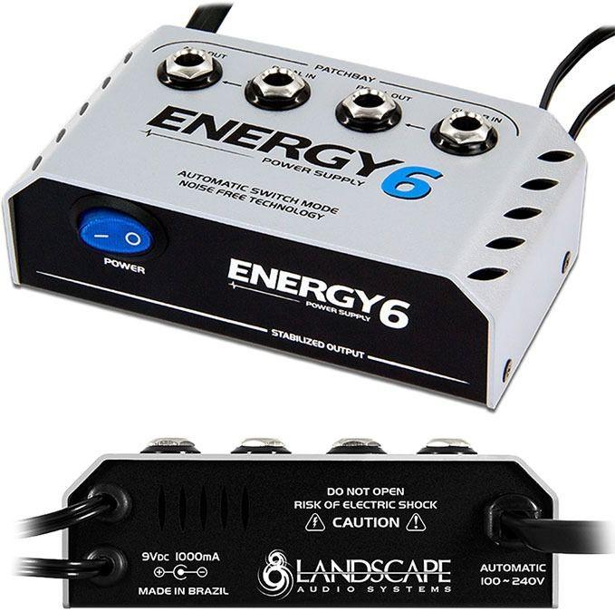 Fonte Energy E6 para ate seis pedais e patchbay - LANDSCAPE