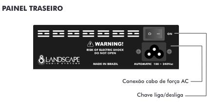 Fonte ISOPOWER7 bivolt automática com 7 saídas isoladas - preta - LANDSCAPE
