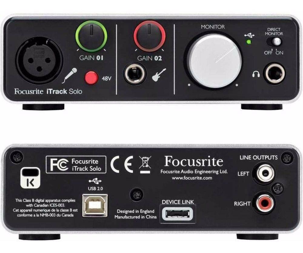 Interface de Audio P/ Iphone - ipad Itrack Solo Lightning - Focusrite