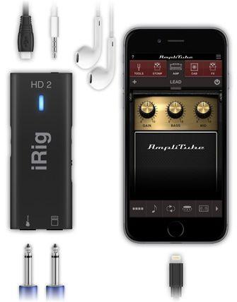 Interface de guitarra e baixo - iRig HD 2 - IK MULTIMEDIA