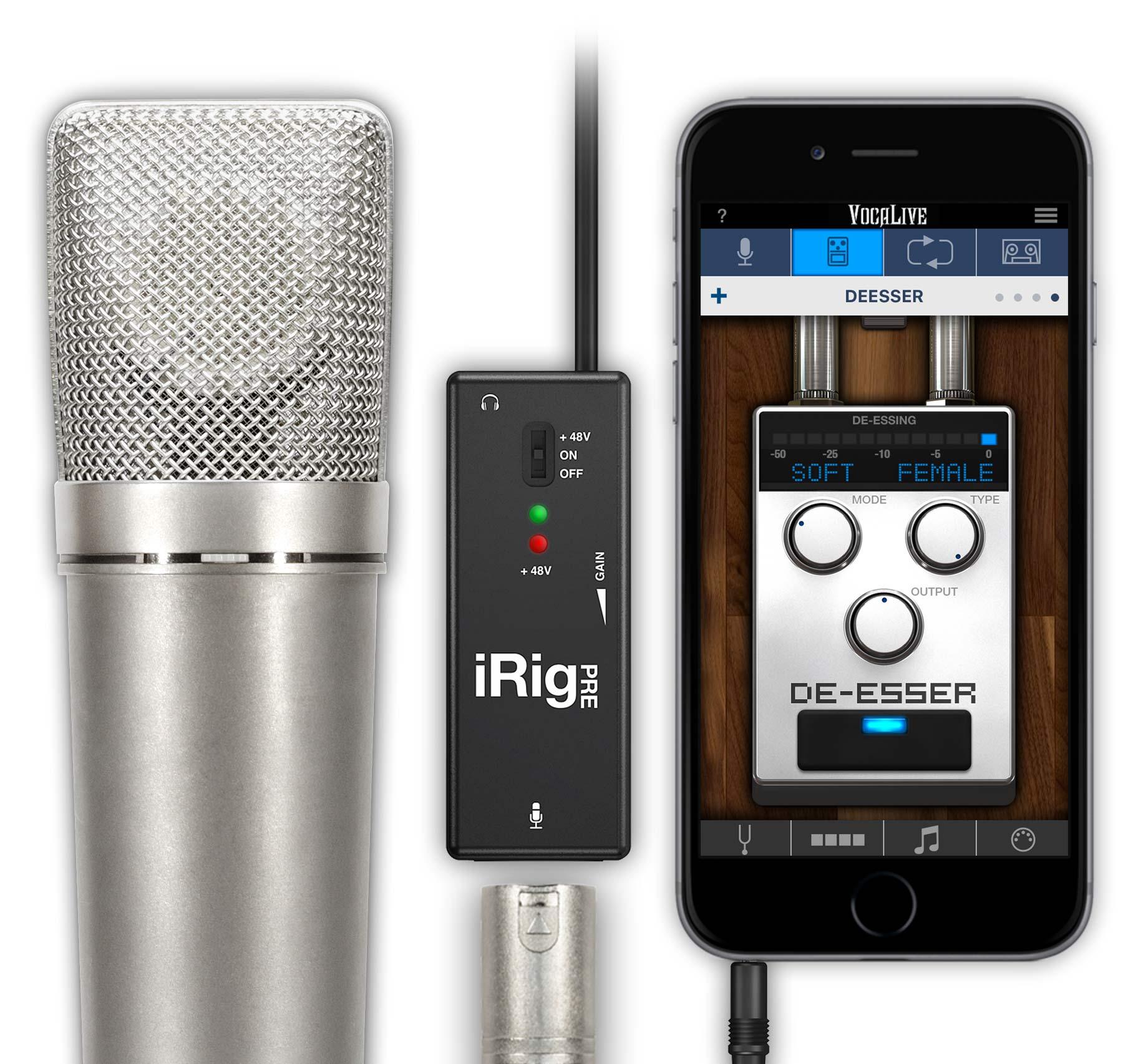 Interface para microfone - iRig PRE - IK MULTIMEDIA