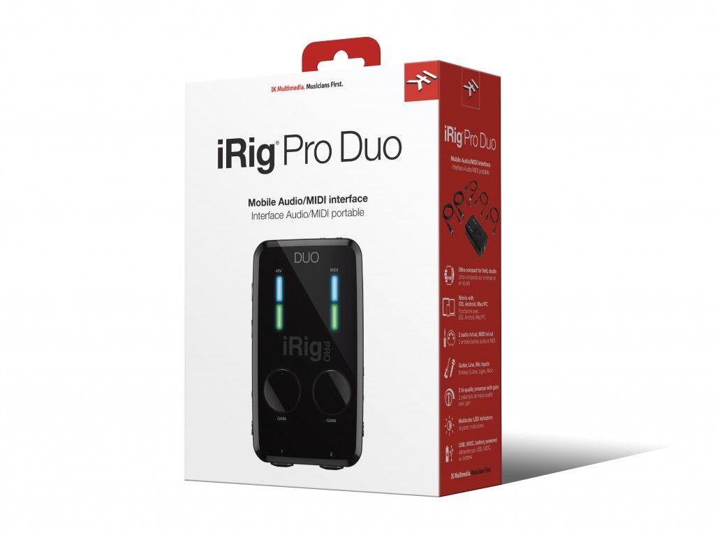 Interface de áudio de 2 canais - iRig Pro DUO - IK MULTIMEDIA