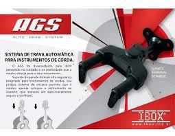 KIT 3 SUPORTES DE PAREDE PARA INSTRUMENTOS DE  CORDAS COM TRAVA - AGS - IBOX