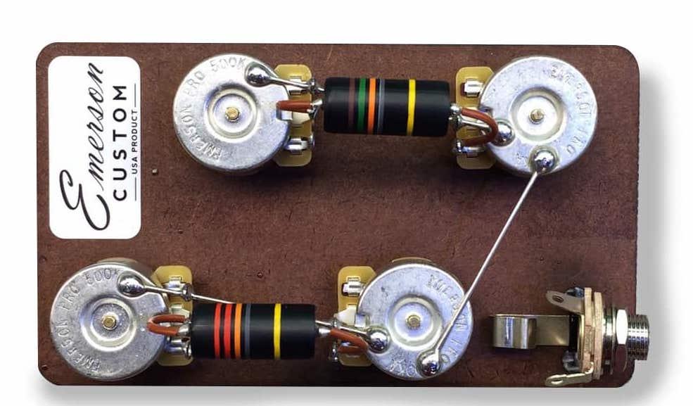 Kit Eletrica Les Paul Prewired Haste Curta - Emerson Custom