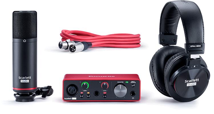 KIT Interface Microfone Headphone Solo Studio (3RD GERAÇÃO) - FOCUSRITE