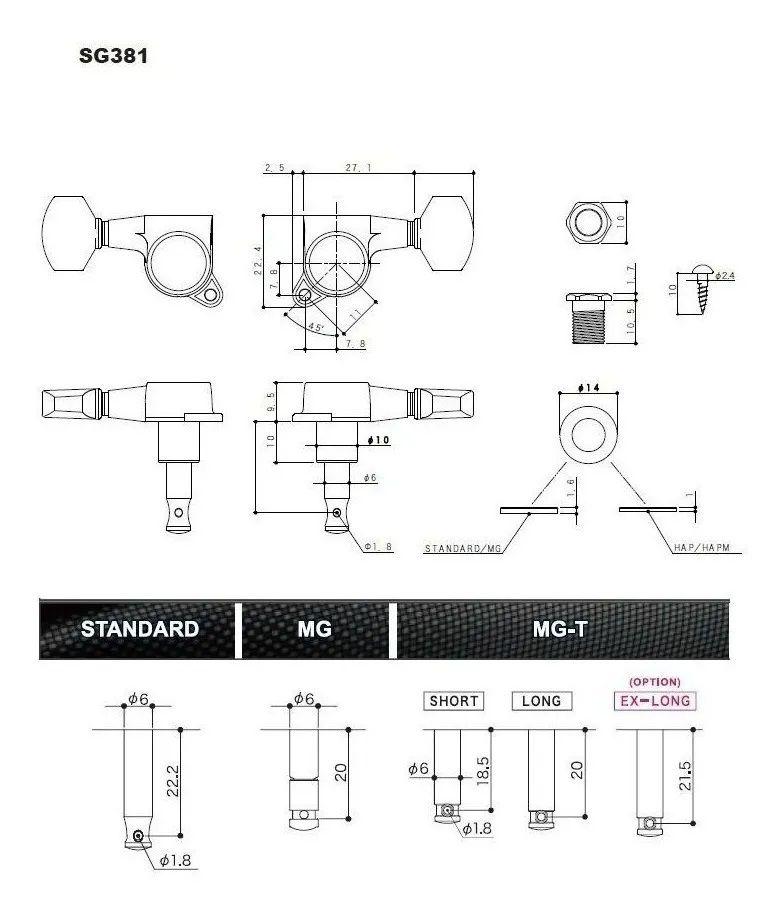 KIT PONTE GE101 TS E TARRAXA SG381-07 MGT  CROMADO - GOTOH