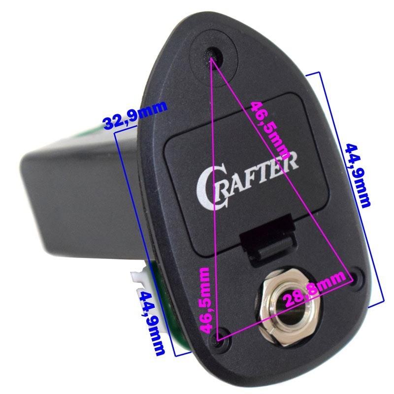 Kit Pré-Amplificador Violão CR-T TV PREAMP SET - CRAFTER