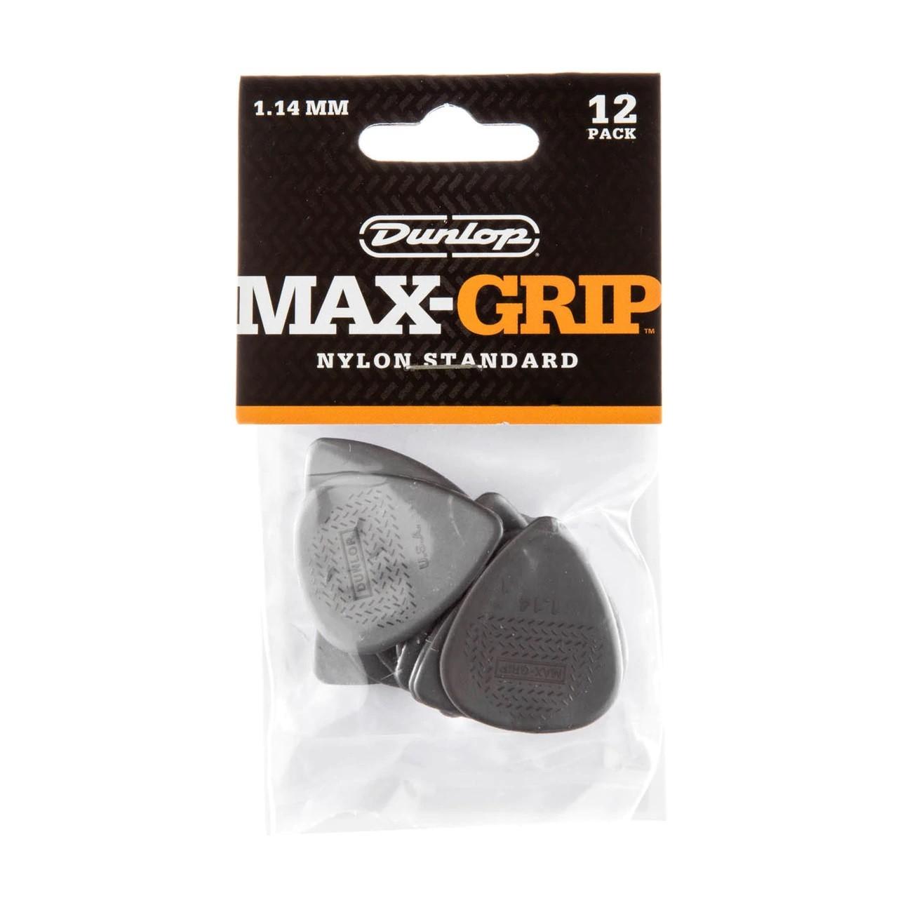PALHETA MAX-GRIP NYLON 1.14MM CINZA C/12 449P - DUNLOP