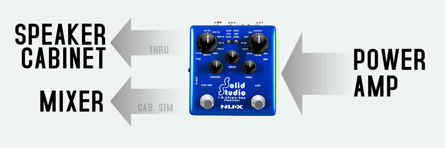 PEDAL SOLID STUDIO I.R E POWER AMP SIMULATOR NSS5 - NUX