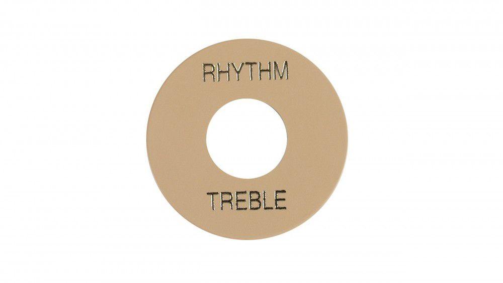 Placa Treble / Rhythm creme com print dourado - PRWA 030 - GIBSON