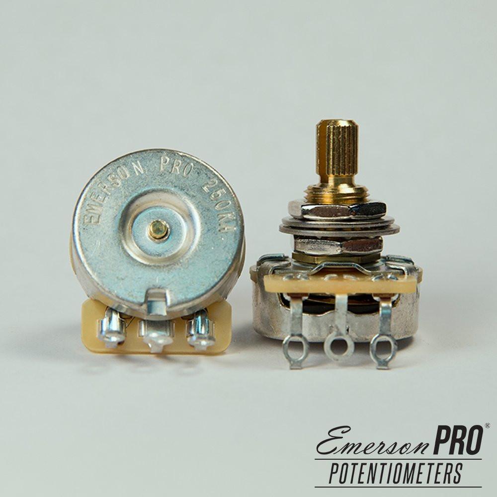 Potenciômetro CTS Pro 250K Blender haste curta estriada - Emerson