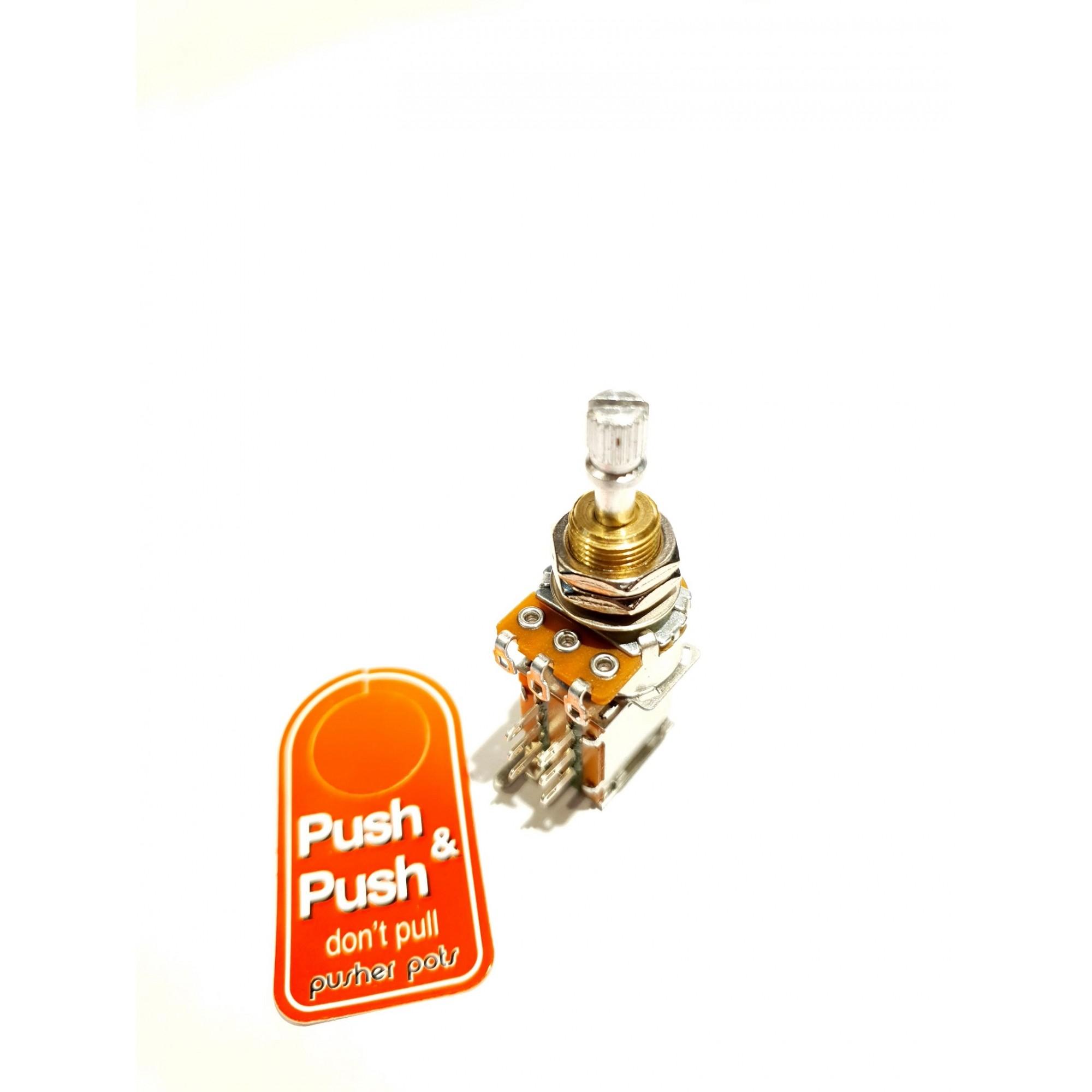 POTENCIOMETRO PUSH PUSH A500K LOGARITMO - CUSTOM SOUND