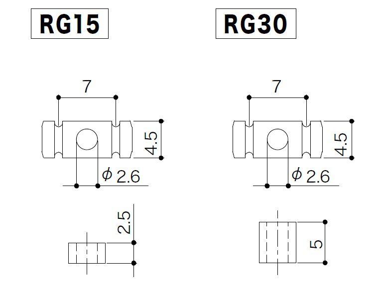 REBAIXADOR DE CORDAS P/ GUITARRA RG 15/RG 30 - CROMADO - GOTOH