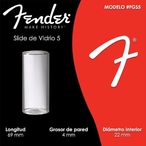 SLIDE P/ GUITARRA VIDRO STANDARD GRANDE LARGO FGS5 - FENDER
