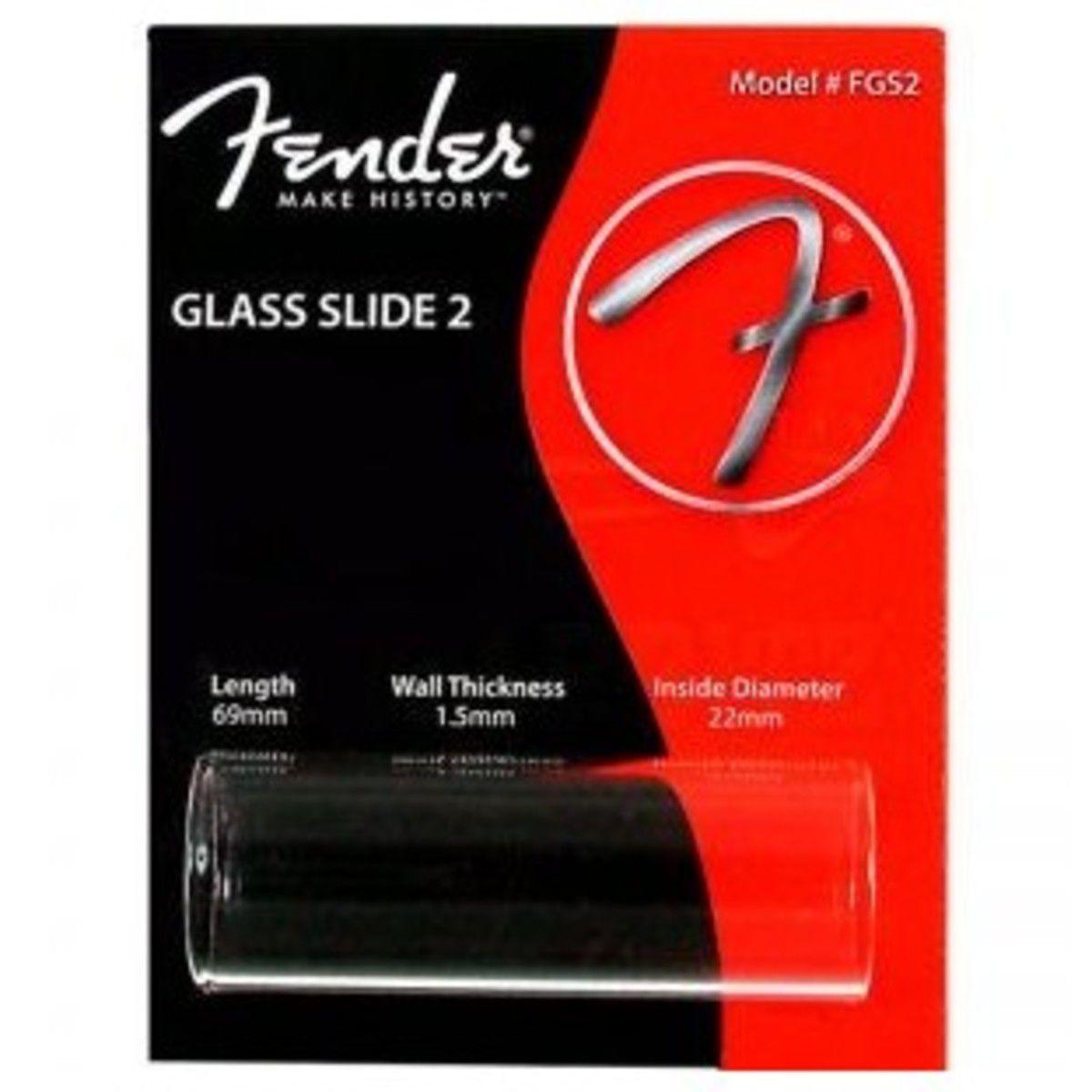 SLIDE  P/ GUITARRA VIDRO STANDARD GRANDE FGS2 - FENDER