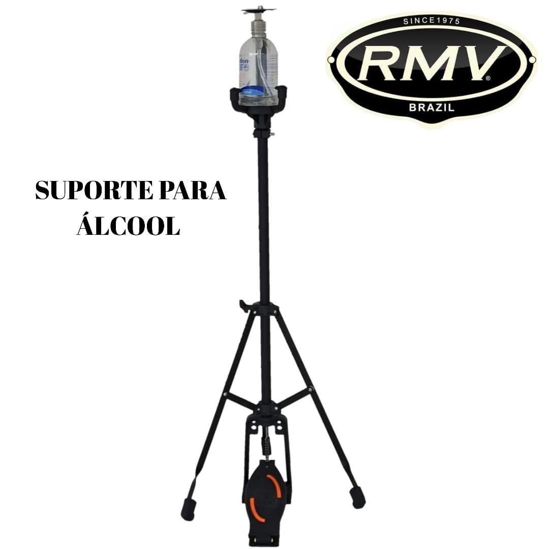 Suporte Dispenser Alcool Gel Com Estante E Pedal - RMV