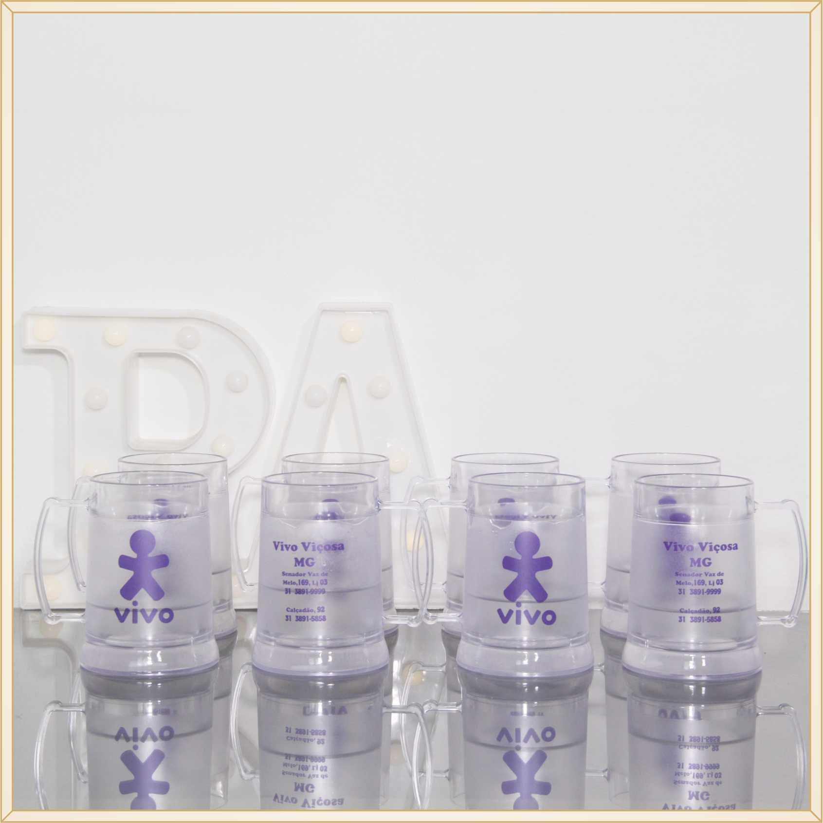 1149513a2 ... 10 Canecas de acrílico gel congelante para brindes empresariais  personalizados para feiras e eventos corporativos -