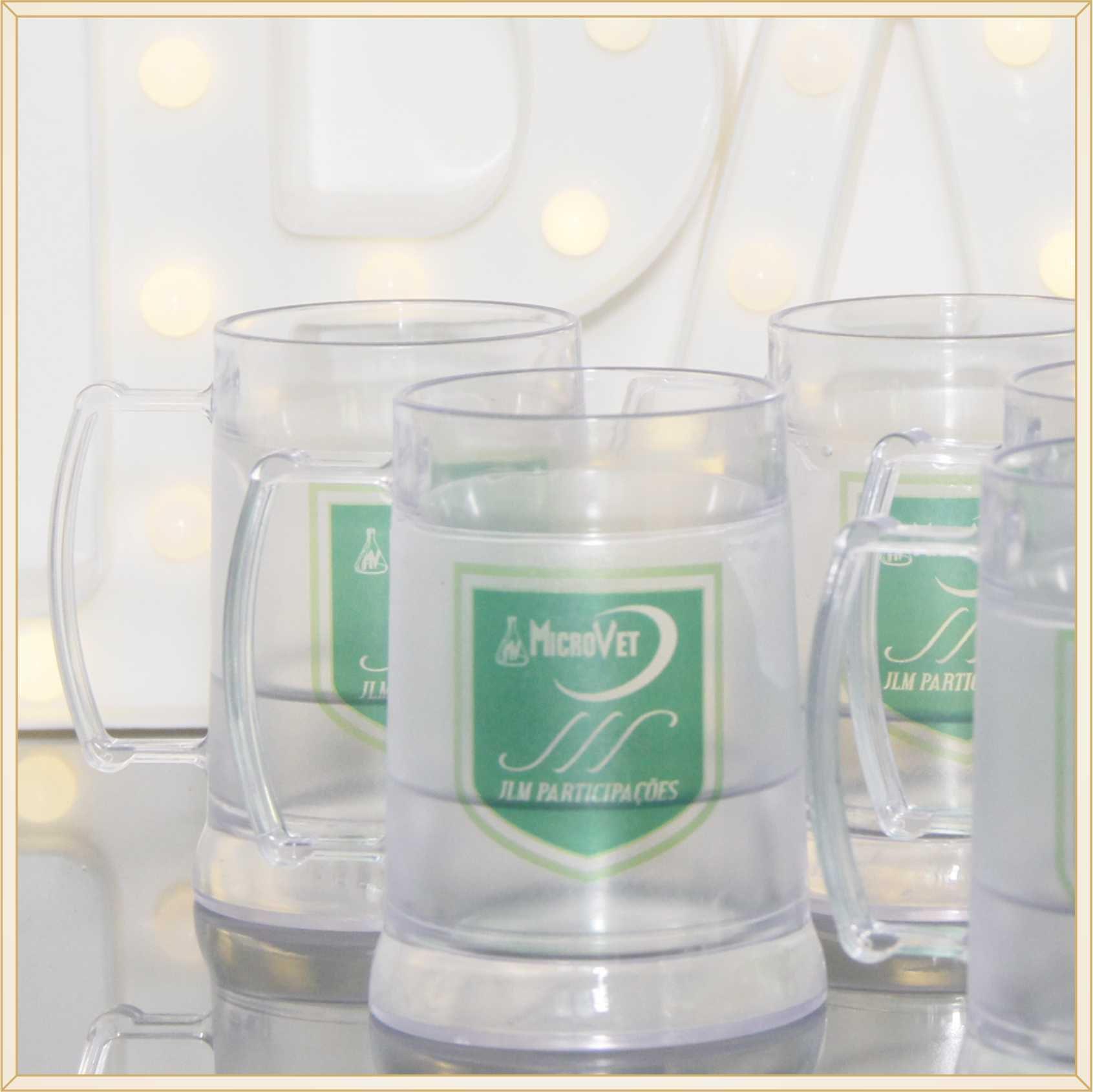 a6b876a32 10 Canecas de acrílico gel congelante para brindes empresariais  personalizados para feiras e eventos corporativos ...