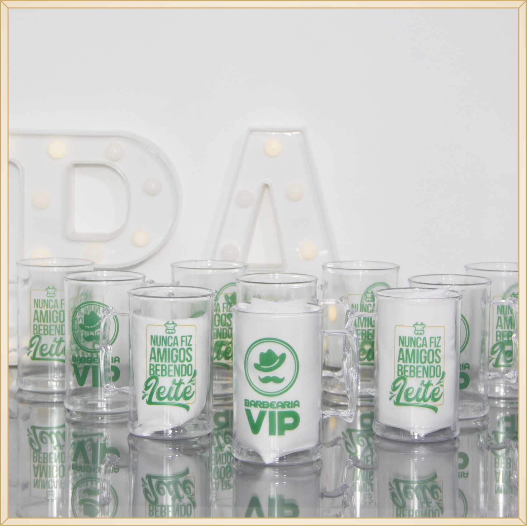 30 Canecas de acrílico personalizadas brindes empresariais feiras e eventos corporativos