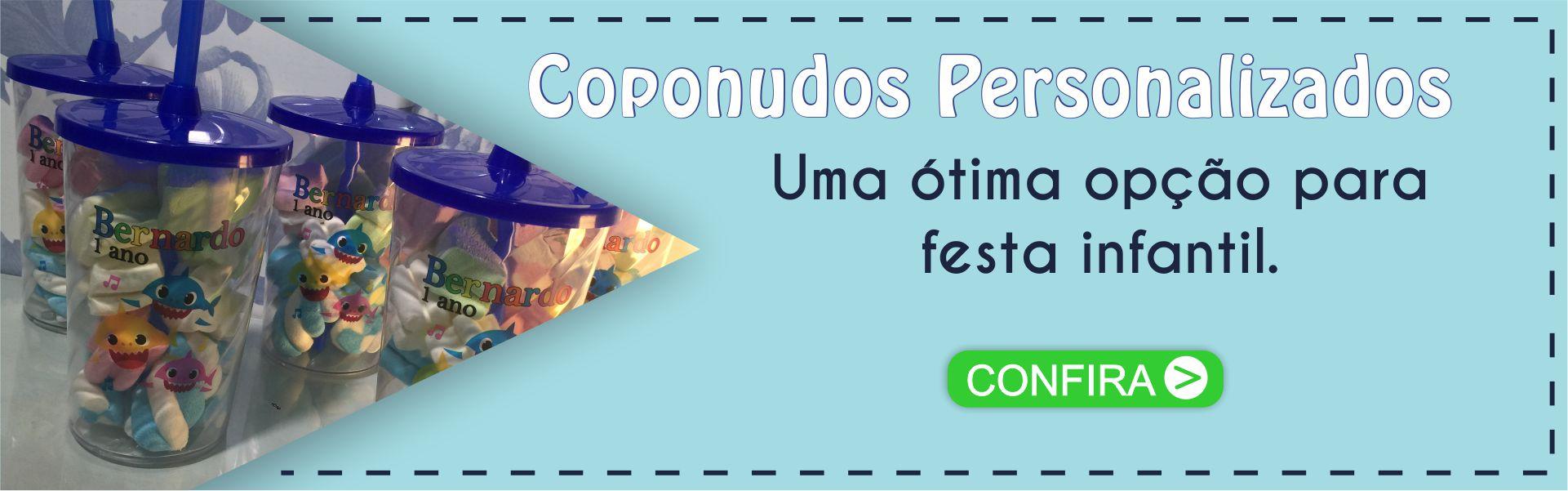 COPOS COM TAMPA E CANUDO PERSONALIZADOS