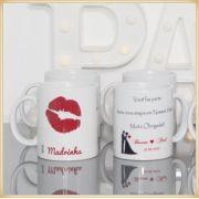 Canecas de porcelana personalizada para padrinhos e madrinhas de casamento - Kit com 20