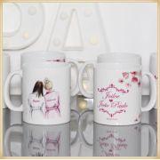 Caneca de porcelana personalizada casamento padrinhos e madrinhas