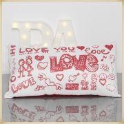 Almofada Palito Personalizada Namorados Love You