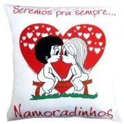 Almofada Quadrada Personalizada Amor Pra Sempre Namoradinhos