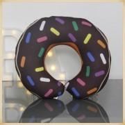 Almofadas de Pescoço Travesseiro para Viagem Donuts Brown