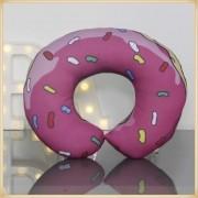 Almofadas de Pescoço Travesseiro para Viagem Donuts Pink