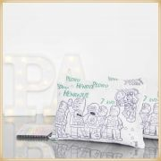Almofadas para Pintar Personalizadas para lembrancinha de aniversário brindes de colorir