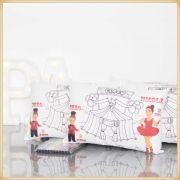 Almofadas para Pintar Personalizadas para lembrancinhas de aniversário brindes de colorir - Kit com 10 unidades Tamanho 20x30cm.