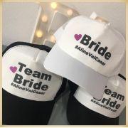 Bonés Personalizados para Festa de Casamento, Chá de lingerie, Chá bar, Team Bride, Time da noiva e Boné para Madrinhas e Padrinhos