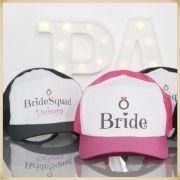 Bonés personalizados para sua festa de casamento chá de noivas e madrinhas - Kit com 10 unidades