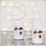 Canecas acrílico Personalizadas para Festas de Casamento e Padrinhos - Kit com 100 unidades