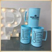 Canecas de acrílico personalizadas Formatura - alta qualidade, acabamento perfeito, parede de 2,5 mm, material atóxico, 300 ml - kit 50 unidades