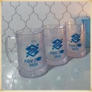 Canecas de gel personalizadas - acrílico qualidade, ótimo acabamento, sistema de congelamento, parede dupla, 300 ml. - kit 15 unidades