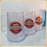 Canecas de gel personalizadas empresa - acrílico qualidade, ótimo acabamento, sistema de congelamento, parede dupla, 340 ml. - kit 15 unidades
