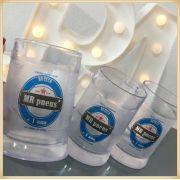 Canecas de gel personalizadas - acrílico qualidade, ótimo acabamento, sistema de congelamento, parede dupla, 340 ml. - kit 10 unidades