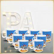 Canecas de Plástico para Lembrancinhas de Aniversário Infantil Brindes Personalizados para Crianças - Kit com 15 unidades