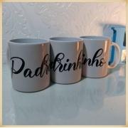 Canecas de porcelana personalizadas casamento padrinhos - alta qualidade, cores vivas, acabamento perfeito, alças confortáveis, 325 ml. - kit 10 unid.