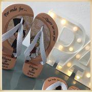 Chinelos Personalizados para festas de casamento brindes para madrinhas  - Kit com 100 unidades