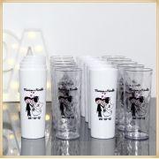 Copos Long drink personalizado para casamento - Kit com 50