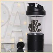 Coqueteleira para academia shakeira para suplementos studio fitness - No Pain No Gain